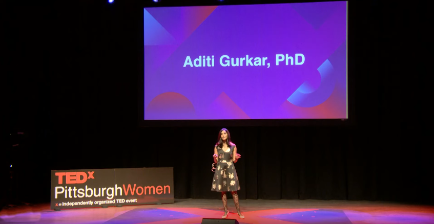 Dr. Aditi Gurkar presents at TEDxPittsburghWomen